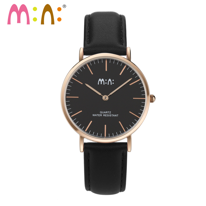 M:N: Brand DW Style Nordic Design Men Women Watches Waterproof Simple Dial Leather Bracelet Lovers Quartz Wrist Watch Saat 2018<br>