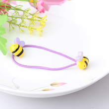 Cartoon Animal Shape Elastic Hair Bands Mini Rubber Band Hair Rope Ponytail Holder For Kids Girl Small Fish Design Scrunchy
