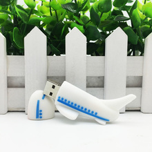 Cartoon Airplane Pendrive Aircraft USB Pens Stick Flash Disk Memory USB USB Flash Drive 128GB 64GB 32GB 16GB 8GB 4GB Pen Drive(China)