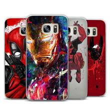 Super Funny Cool Hero SuperMan Iron Man Deadpool Transparent Phone Case Cover for Samsung Galaxy S3 S4 S5 S6 S7 S8 Edge Plus Min