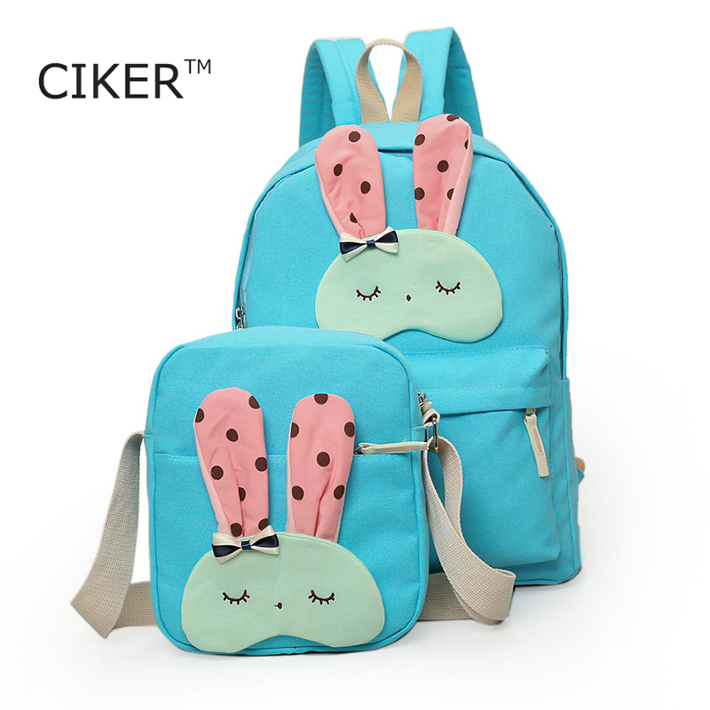 CIKER Women canvas shoulder bag 2pcs/set printing backpack for teenage mochila escolar school bag Dot laptop backpacks travelbag<br><br>Aliexpress