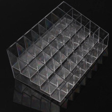 Trapezoid Clear Makeup Display 40 Lattices Lipstick Stand Case Cosmetic Organizer Holder Box Hot sale High Quality ZQ678406