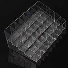 Trapezoid Clear Makeup Display 40 Lattices Lipstick Stand Case Cosmetic Organizer Holder Box Hot sale High Quality ZQ678406(China)
