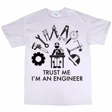 Casual brand Clothing high quality male T-shirt Trust Me I'm An Engineer Cotton Engineering Gift  short sleeve button up Tees