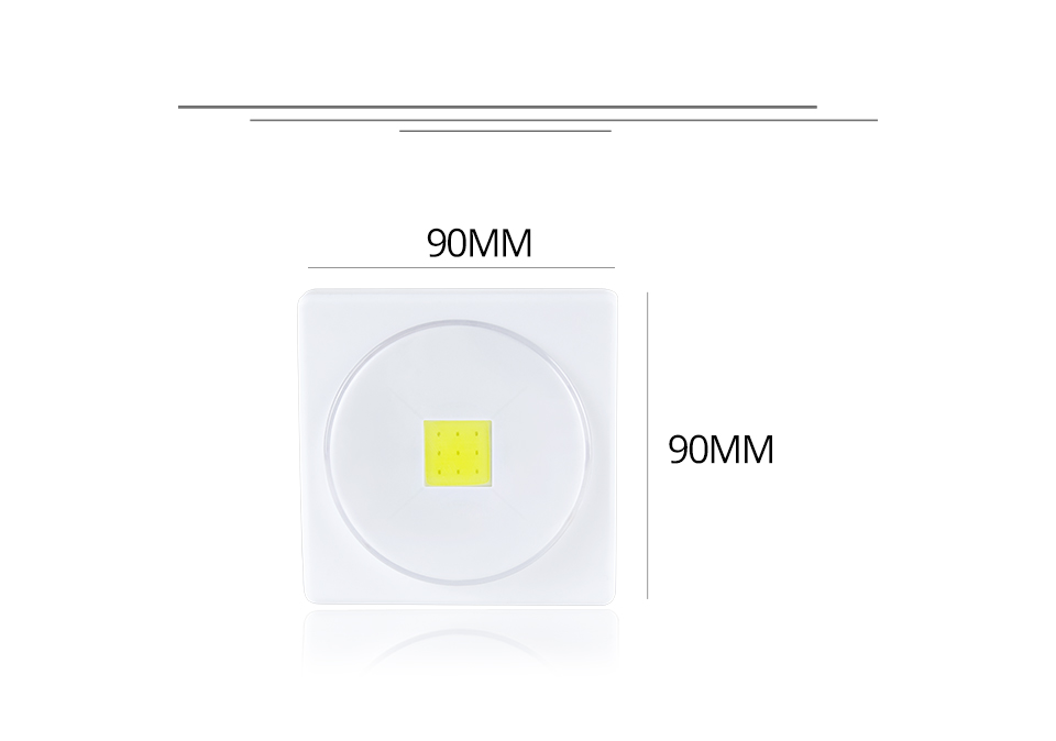 LED Desk Light Battery Powered Magnets COB With Switch Reading Book Lights _ (3)