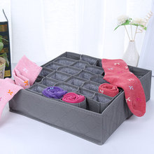 Anti-Microbico Bamboo Charcoal Socks Drawer Closet Organizer Storage Box