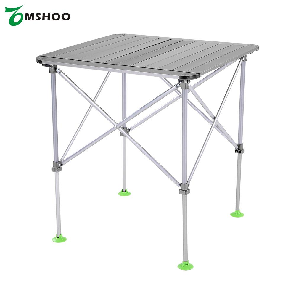 Height Adjustable Folding Table Outdoor Portable Aluminum Alloy Camping  Desk Furniture Foldable Picnic Table With Carry