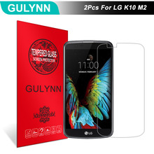 Buy 2Pcs/Lot GULYNN Amazing 2.5D 9H Tempered Glass LG K10 M2 LCD Screen Protector Glass Film Tough Package for $3.77 in AliExpress store