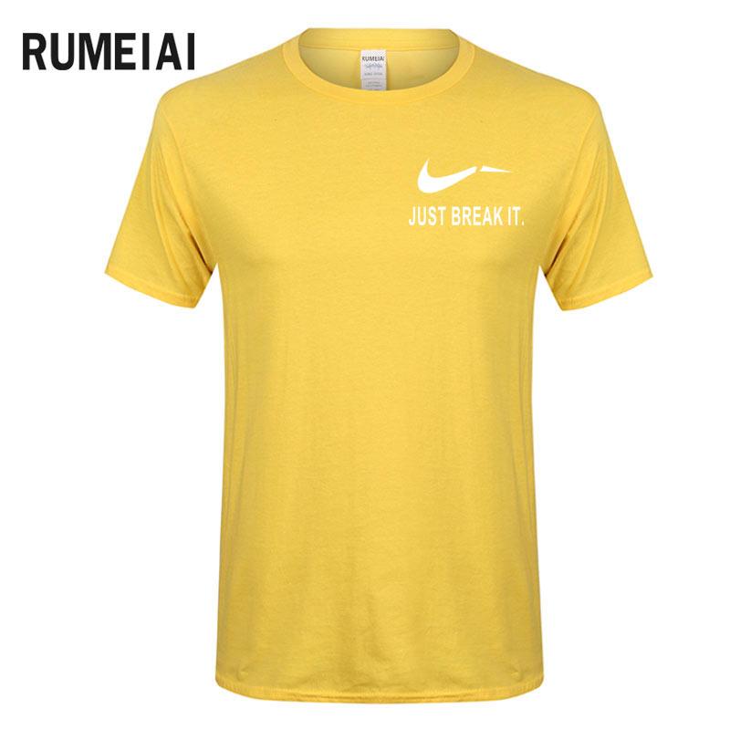 RUMEIAI Fashion Men T-Shirts Male US Size T shirt Homme Summer cotton Short Sleeve T Shirts Brand Men's Tee Shirts Man Clothes 5