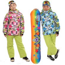 Brand Chilren Ski Suit Boys Girls Warm Winter Waterproof Snowboarding Skiing Suit Set For Kids Snow Jackets and Pants Snow HXT10(China)