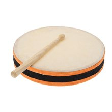 "8"" Wood Hand Drum Dual Head with Drum Stick Percussion Musical Educational Toy Instrument for KTV Party Kids Toddler"