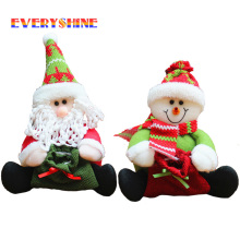 Santa Claus Handhold Gift Bag Christmas Tree Decoration Dolls Xmas Festival Snowman Ornaments Candy Bag Gifts Toy SD405