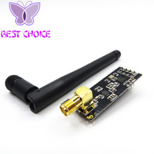 1set/lot Wireless Module NRF24L01+PA+LNA with Antenna 1000 Meters Long Distance Free Shipping(China)