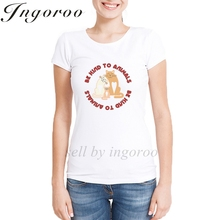 Ingoroo Funny Girl Power T Shirt Queen Graphic Sexy Rose Tshirt Feminist Flower Harajuku Shirt Vegan Womens Tops Blusa Renda