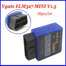 Vgate OBDII Protocol Scan Tool ELM327 OBD2 MINI Bluetooth Code Scanner ELM 327 For Android(China)