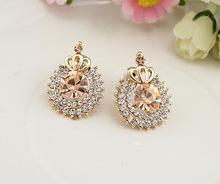Sweet Korean Jewelry Lady Small And Exquisite An Crown Products stud earring Goods In Stock Mixed Batchstud women female E315