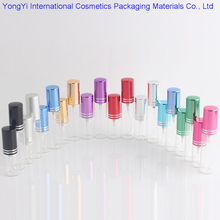 High Quality 10 Color 50Pieces Wholesale 5ml10ml Glass Perfume Bottle Refillable Bottle Essential Oil Spray Bottle(China)
