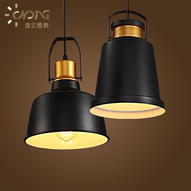 Industrial Retro Style Art Pendant Light Black Edison light Bulb American Village Lamps Hanging Lamps luminaries WPL151<br>