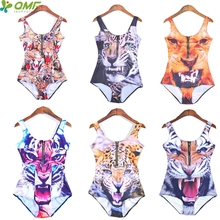Golden Tiger Brazilian Biquinis For Womens High Waist Leopard Swimsuits Sexy Push Up Bikinis Zip One Piece Swimwear Animal Print