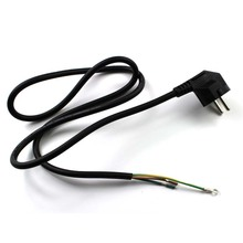 High quanlity 1M Black EU plug AC Power Extension Cord 3 Prong Europe standard AC Power Supply Cable with Single Head Jack