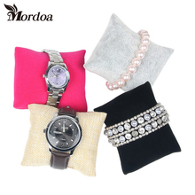 Mordoa 2017 20pcs Small Linen Flannelette Bracelet Watch Pillow Jewelry Displays(China)