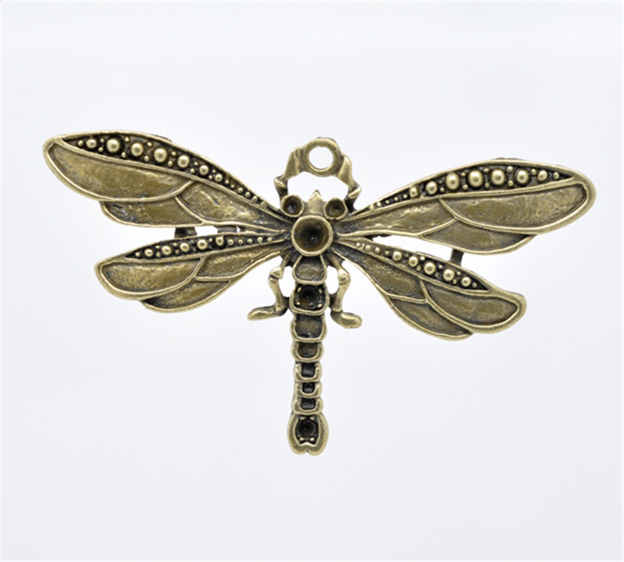Lot of 10 Vintage Bronze Alloy Butterfly Dragonfly Insects Pendants Mixed Crafts