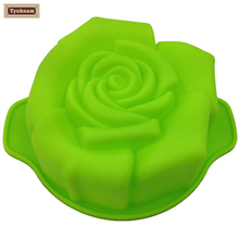 Silicone Rose Flower Baking Cake Pan Tray Mold Mould Bread Bakeware Biscuit Muffin Chocolate Pizza Pastry Decorating Baking Tool(China)