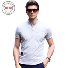 New Arrive Band Mandarin Collar Short Sleeve Solid Polo Shirt Men 2017 Fashion Summer Mens Designer Polo Shirts  A6102