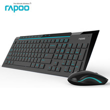 Rapoo 8200P Silent Wireless Keyboard and Mouse Combo with waterproof Multimedia keypad for Laptop Desktop TV box Computer Game