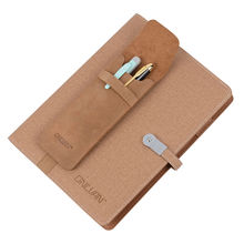 Genuine Leather Pen Case Brown Color Pencil Bags Business Pen Holder Office Supply School Accessories Wholesale Retail