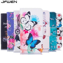 For Fundas Huawei Y5 II Case Leather Luxury Colourful Butterfly Painted Phone Case For Huawei Y5 II Y5 2 Flip Wallet Case Cover(China)