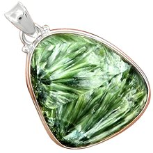 Lovegem Genuine Seraphinite Pendant 925 Sterling Silver, 41.7 mm, AP3505(China)