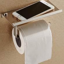Cuarto de baño de rollo de papel higiénico titular de montaje en pared de  acero inoxidable WC cuarto de baño de papel titular de. c28a5cfaf622