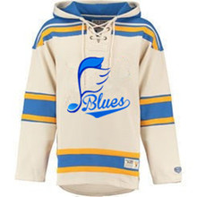 New Designs BLUES Logo Hockeys Style Stitching Jerseys Customize Blues Music Notation Team Player Name & Number Hoodies Pullover(China)