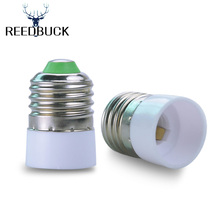 Super Cheap LED E27 to E14 Base Lamp Holder Converter Socket High Quality White Fireproof Material Adapter Conversion Light Bulb