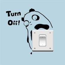 Turn the light off switch sticker vinyl wall stickers wallpaper living room bedroom decorations funny animals panda decor decal