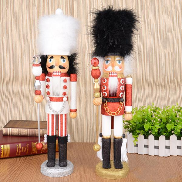 D336 Free shipping Action doll puppets 46CM color pink nutcracker soldier, hand-painted Christmas gifts   2pcs/lot<br><br>Aliexpress