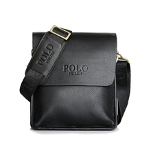 Hot 2018 famous brands men design casual business leather handbags messenger bags vintage fashion cross body shoulder bag X0002(China)