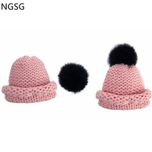NGSG 2017 Winter Hat 12cm Luxury Real Fox Pompon Balls Genuine Pom For Bag Hats Cap Scarf Gloves Attached Accessoreis wholesale(China)