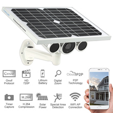 HD 720P Wireless Solar IP Camera Outdoor Wireless WiFi Security Camera IR-CUT Night Vision 100m Waterproof Security Onvif Camera(China)