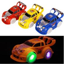 2016 Hot wheels toys Cars with led light gimbal wheel Music Car toy Gift juguetes Best Price For children kids toys(China)