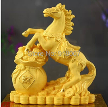 YZ-M1002 24K gold electroforming craft horse for Birthday Wedding Christmas Business New Year Gift High Quality Promotion Item(China)