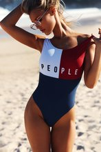 Buy Sexy Swimwear Women V Neck Swimsuit Bikini 2019 Summer Patch Beach One Piece Swimsuit Push Paded Bikini Female Biquini