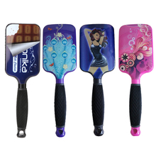 1PC Large Paddle Hair Brush Leopard Print Hair Comb for Professional/Home Use Color Will Be Send By Random GUB#