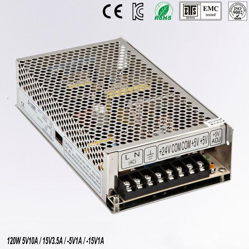 quad output power supply 120W 5V 15V -5V -15V power suply Q-120C  Amultiple output ac/dc power supply<br>