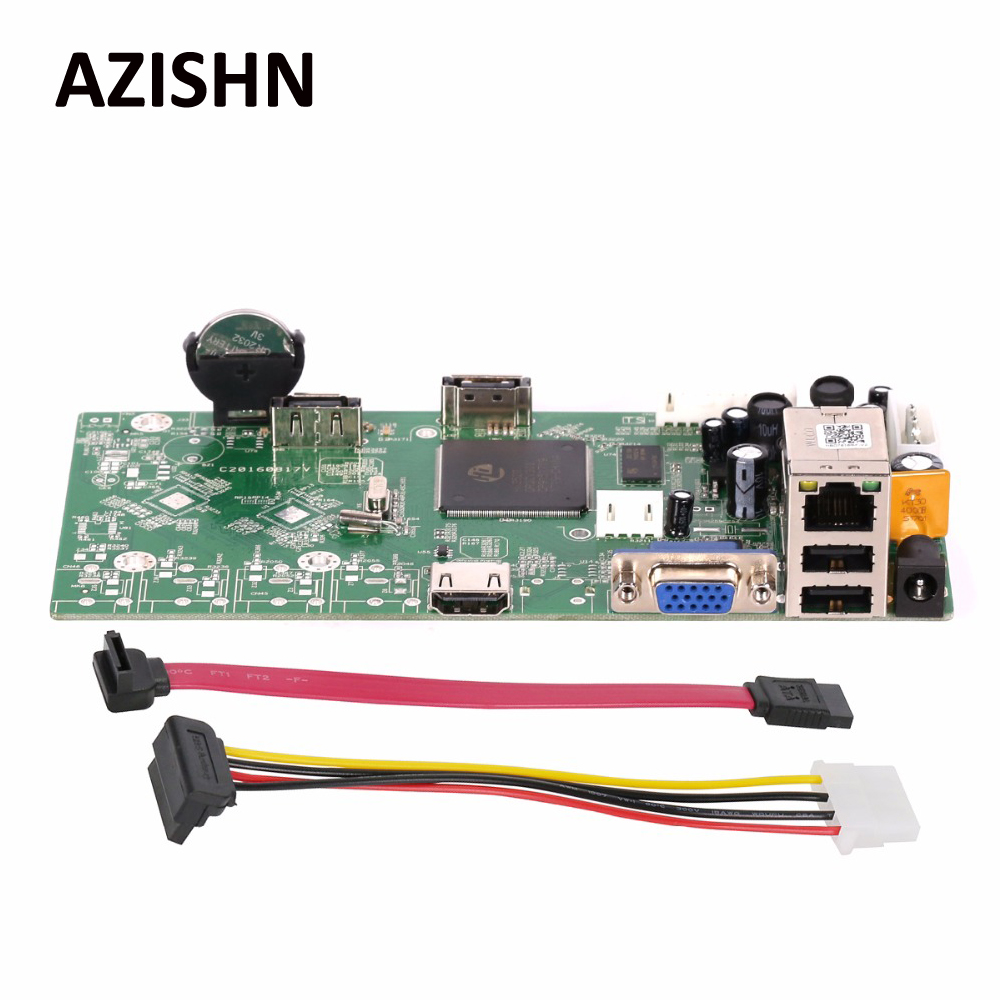AZISHN 16CH 1080P/4CH 5MP NVR Main Board Network Video Recorder Onvif P2P Cloud CMS Motion Detection Email Alert  NBD7816R-F-V2<br>