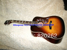 New Arrival Honey Burst Hummingbird Acoustic Guitar High Quality Free Shipping