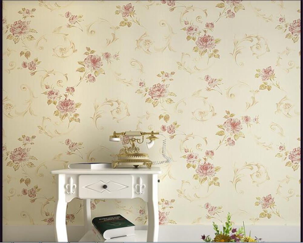 beibehang Retro Nature Pastoral Floral Wallpaper American Country Nonwoven 3d Wallpaper Living Room Bedroom TV Background tapety<br>