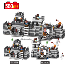 Buy Qunlong Mine World Series Eductional Technic Model Building Blocks Kit Castle Children Toys Compatible Legoe Minecrafted Blocks for $15.36 in AliExpress store