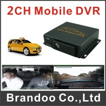 MPEG-4 2CH Mobile DVR For Taxi Bus Van Truck Vehicle Used